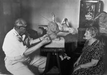 Николай Блажков в мастерской. Фото из архива С.Г. Рублева