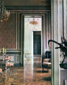 Одесса. Дом ученых,  вид на Шелковую гостиную и Белый зал из Мраморной гостиной. Фото в книге «Одесса — Варна». 1976 г.