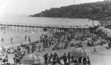 На пляже в Аркадии. Одесса. Начало 1960-х гг.