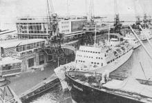 Морской пассажирский вокзал Одесского порта. Фото в брошюре «Одесса с моря». 1970 г.