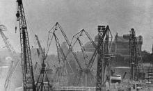 Вид на театр оперы и балета из Одесского порта. Фото в брошюре «Одесса с моря». 1970 г.