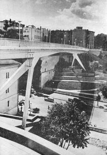 Мост им. Жанны Лябурб. Фото в брошюре «Одесса с моря». 1970 г.