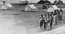 Молодежный лагерь в Ново-Дофиновке. Фото в брошюре «Одесса с моря». 1970 г.