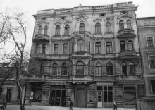 Переулок Маяковского, 3. Дом б. Макареско, 1899, арх. В.И. Шмидт. Одесса. 1980-е гг.