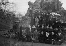 Одесса. Грот. На заднем плане верхний павильон фуникулера. 1954 г.