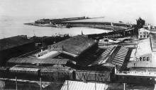 В Одессе после оккупации австро-венгерскими войсками: карантинная гавань в порту. 1918 г.
