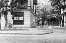 Вид с ул. Морской на ул. Уютную. Слева дом с адресом Уютная, № 1. Одесса. 1980-е гг.
