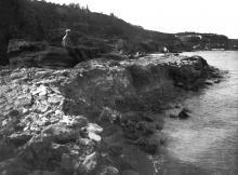 Вид на берег 10-й станции с 11-й. Фотография 1935 г.