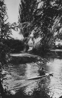 Одесса. Озеро в парке «Победа». Фото О. Малаховского. 1962 г.