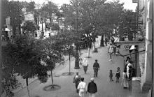Одесса. Вид с ул. Советской Армии на площадь 1905 года. Фотограф Борис Владимирович Зозулевич. 1938 г.