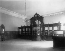 Помещение для посетителей Одесской почтово-телеграфной конторы, фотография конца ХIХ - начала ХХ вв.