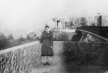 Вид на «Тещин» мост и колоннаду Дворца пионеров. Одесса. 1980-е гг.