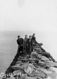 Одесса. На пирсе на Ланжероне. 1958 г.
