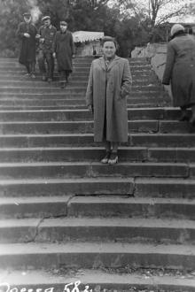 Одесса. Ланжерон. Лестница к морю. 1958 г.
