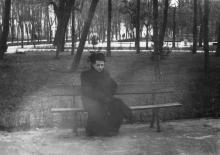 Одесса. В городском саду. В глубине виден выход на ул. Халтурина. 1960-е гг.