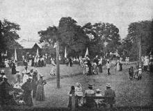 Детский сад внизу Николаевского бульвара. Фото в иллюстрированном путеводителе Вайнера «Одесса». 1901 г.
