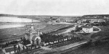 Пантелеймоновская церковь на Куяльницком лимане. Фотография в иллюстрированном путеводителе Вайнера «Одесса». 1901 г.