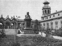 Памятник Э.С. Андреевскому на Куяльнике. Фотография в иллюстрированном путеводителе Вайнера «Одесса». 1901 г.