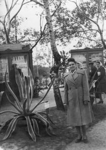 В ЦПКиО им. Шевченко во время проведения сельскохозяйственной выставки. Одесса. 1951 г.