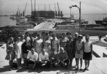 Одесса. Вид на морской вокзал. 1971 г.