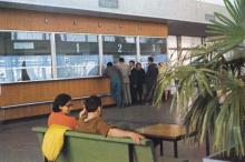 Кассы морвокзала. Фото в рекламном буклете «Одесский порт». 1970-е гг.
