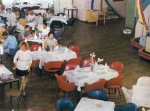 Ресторан морвокзала. Фото в рекламном буклете «Одесский порт». 1970-е гг.