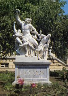Скульптурная группа «Лаокоон». Фото Е. Света. Открытка из набора «Одесса — Одеса». 1989 г.