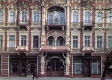 Гостиницы «Красная». Фото Р. Папикьяна. Открытка из набора «Одесса — Одеса». 1989 г.