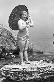 Одесса. На берегу у моря. 1954 г.