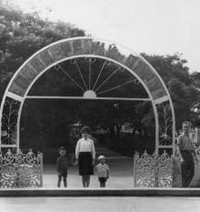 Одесса. Вход в Пионерский парк с Потемкинской лестницы. 1960-е гг.