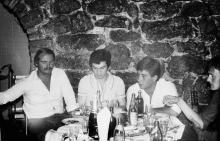 В ресторане «Глечик». Фото Евгения Мельникова. Одесса. 1983 г.