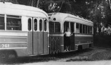 Одесса. Конечная 5-го трамвая в Аркадии. Конец 1950-х гг.