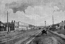 Въезд на Московскую улицу (на Пересыпи). Одесса. 1890-е годы