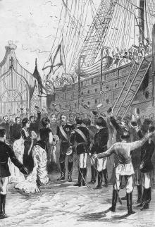 Прибытие генерала Радецкого в Одессу после похода. Гравюра. Дозволено цензурою 27 апреля 1879 г.