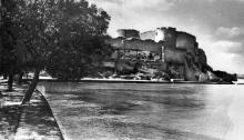 Общий вид Белгород-Днестровской крепости со стороны лимана. Фотография в буклете «Белгород-Днестровская крепость». 1961 г.