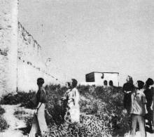 Вид со стороны внутреннего двора крепости. Фотография в буклете «Белгород-Днестровская крепость». 1961 г.