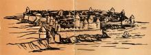 Рисунок на последней странице обложки буклета «Белгород-Днестровская крепость». 1961 г.