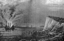 Взрыв английского фрегата «Тигр» у дачи Кортацци на М.-Фонтане. 30 апреля 1854 г.