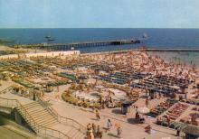 Пляж на 10-й станции Фонтана. Фото В. Котликова. Открытка из набора «Одесса». 1981 г.