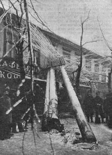 Одесса во время гололедицы 26-го ноября т. г., Греческая улица. Фото И.М. Шнейдера в журнале «Нива» от 14 декабря 1902 г.