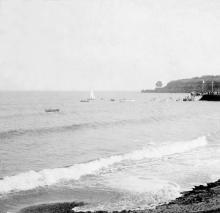 На пляже в Аркадии. Фотография со стереопары