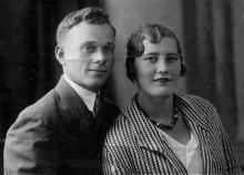 Дмитрий (брат Петра) и Людмила Езеровы, ок. 1935 г.