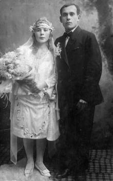 София Езерова и Петр Франкевич, ок. 1927 г.