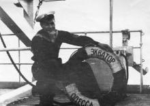 На судне «Экватор». 1950-е гг.