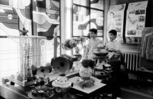 В музее космонавтики при Областной станции юных техников. Фото В. Тенякова. Одесса