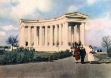 Колонада палацу піонерів. Фото в буклеті «Одеса». 1960 р.