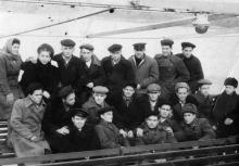На пароходе «Пестель» во время экскурсии в гор. Одессу. 1948 г.