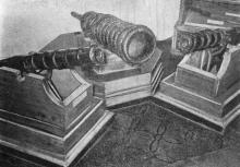 Запорожские пушки. Фото в путеводителе «Одесский государственный историко-краеведческий музей», 1959 г.