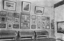 Экспозиция темя «Геология». Фото в путеводителе «Одесский государственный историко-краеведческий музей», 1959 г.