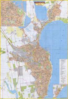 Одесса. План-схема из набора «Окрестности Одессы». 2008 г.